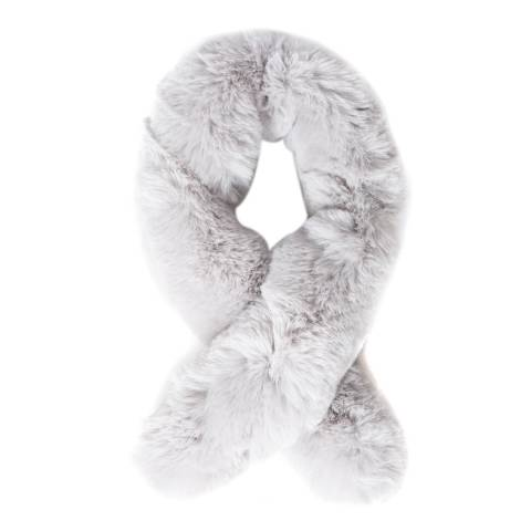 JayLey Collection Grey Luxury Faux Fur Scarf