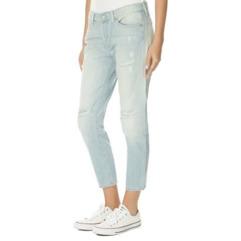 7 For All Mankind Light Blue Josie Boyfriend Jeans