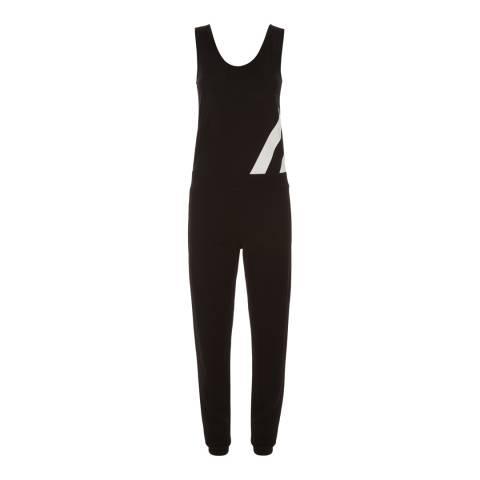 Jaeger Black/Ivory Stripe Panelled Jersey Jumpsuit