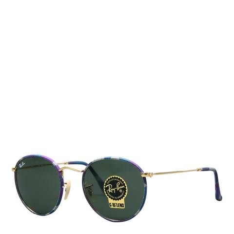 Ray-Ban Unisex Violet Blue Camouflage Sunglasses 50mm