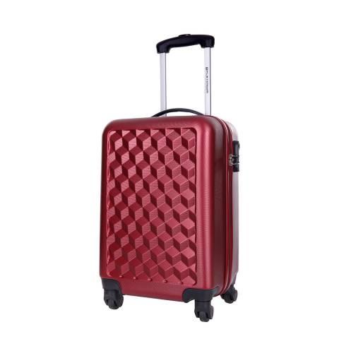 Platinium Red Campden Spinner Cabin Suitcase 46cm
