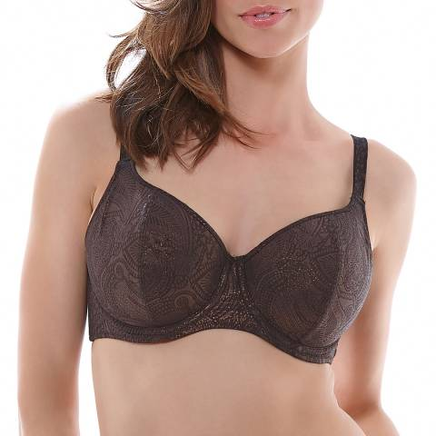 Fantasie Brown St Barts Underwired Padded Balcony Bikini Top