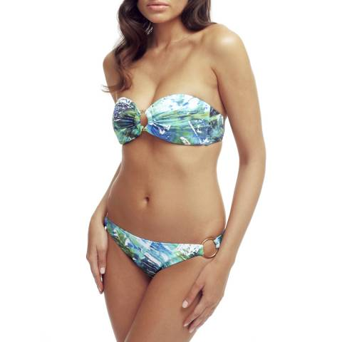 Elizabeth Hurley Beach Blue Splash Bikini Set