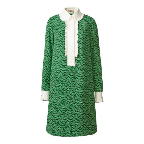Orla Kiely Green Ballroom Dancing Shift Dress