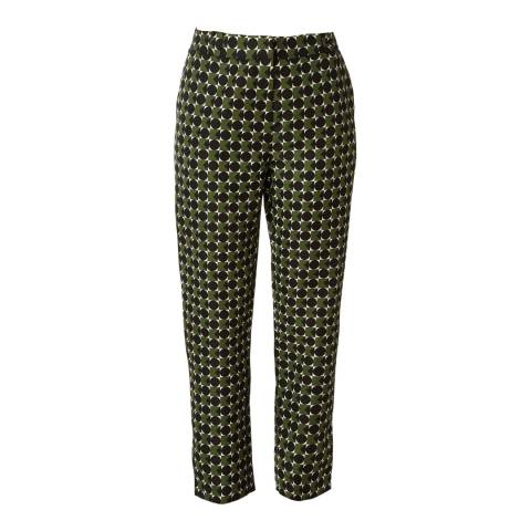 Orla Kiely Green Spot Square Triangle Ottoman Trousers