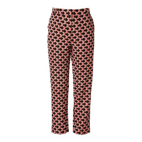 Orla Kiely Black and Pink Spot Square Triangle Ottoman Trousers