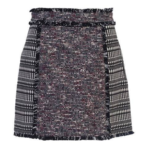 French Connection Black Pixel Mix Mini Skirt