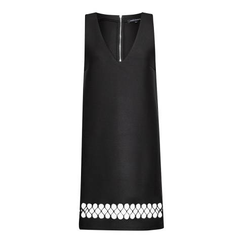 French Connection Black Clara Eight Hem Detail Dress