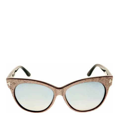 Tom Ford Women's Grey Purple/Blue Saskia Sunglasses 57mm