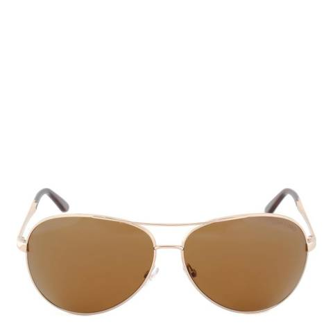 Tom Ford Men's Rose Gold/Brown Polarised Charles Sunglasses 62mm