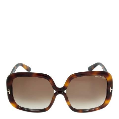 Tom Ford Women's Brown Valeria Sunglasses 57mm