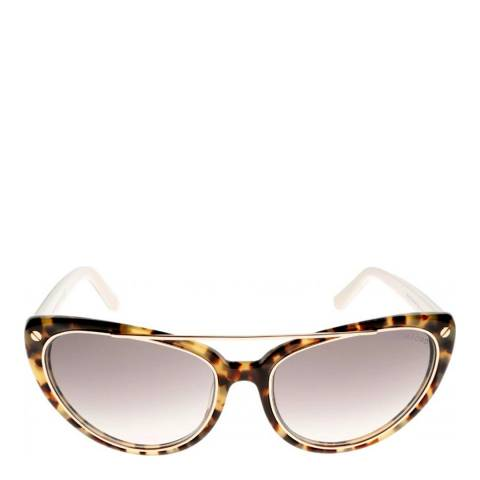 Tom Ford Women's  Beige/Grey Edita Sunglasses 58mm
