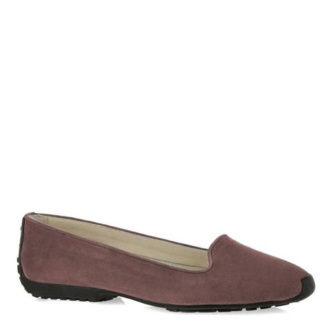 French Sole Pink Suede Gabi Ballet Flats
