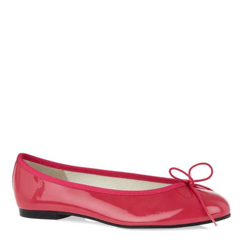French Sole Fuchsia Patent Leather Henrietta Ballet Flats