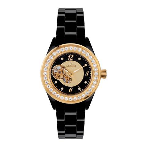 Richtenburg Women's Black/Gold Ceramic Kera Watch