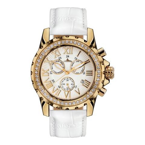 Richtenburg Women's White/Gold Stainless Steel/Leather Romantica Watch
