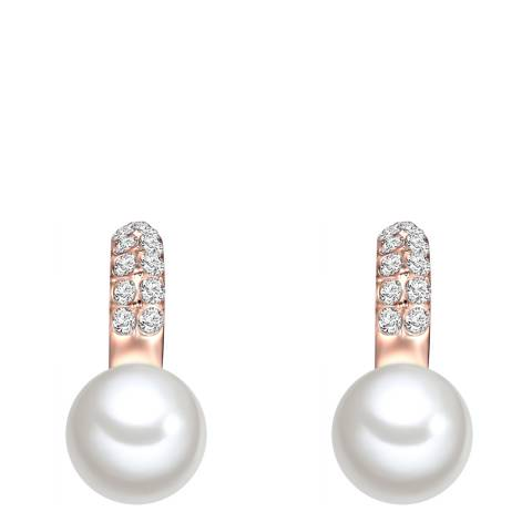 Perldesse White Pearl Hoop Earrings 10mm