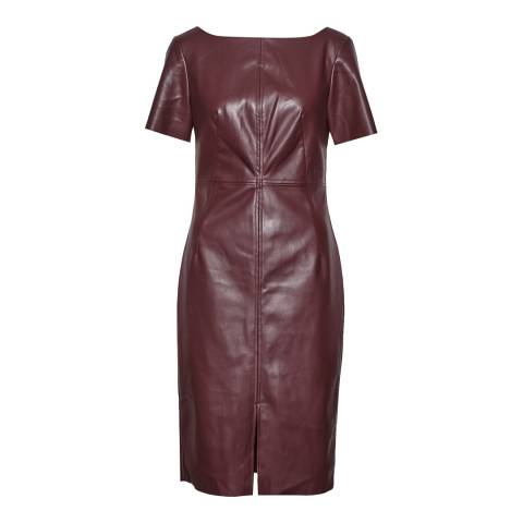Great Plains Elderberry Leather Look Pencil Dress