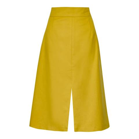 Great Plains Yellow A-Line Skirt