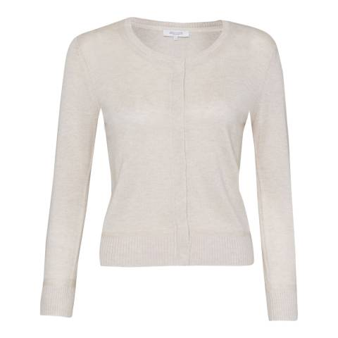 Great Plains Creme Fine Knit Cashmere Blend Cardigan