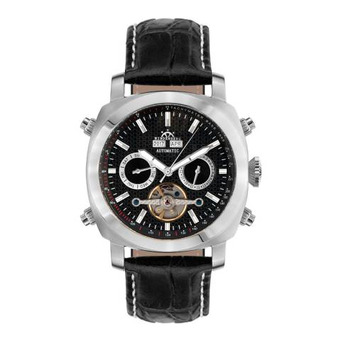 Hindenberg Men's Black/Silver Leather Skyray Watch