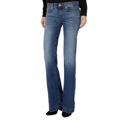 7 For All Mankind  Blue Mid Rise Dojo Stretch Jeanss