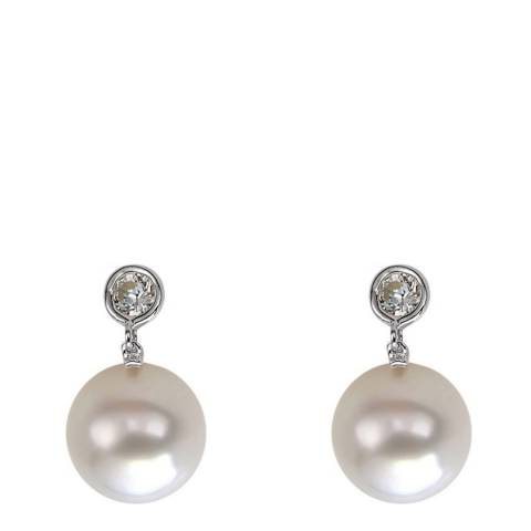 White label by Liv Oliver White Crystal and Pearl Drop Earrings