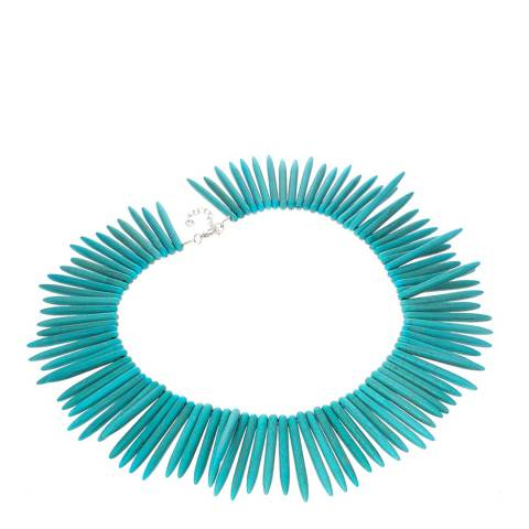 Alexa by Liv Oliver Turquoise Spike Necklace