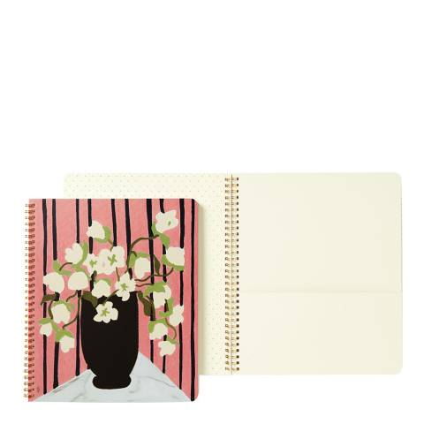 Kate Spade Multi Drapkin Bouquet Large Spiral Notebook