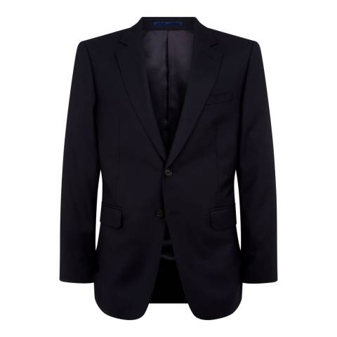 Jaeger Navy Wool Classic Plain Twill Suit Jacket