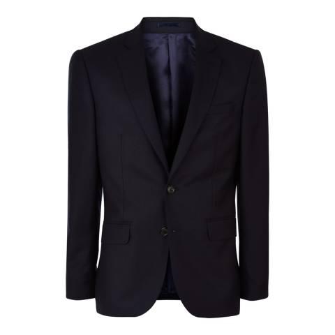 Jaeger Black Wool Plain Twill Suit Jacket