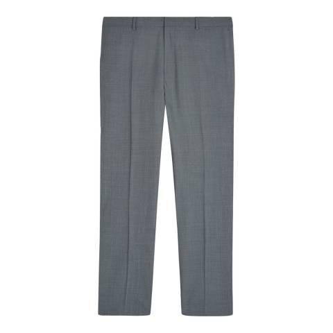 Jaeger Grey Wool Slim Textured Suit Trousers