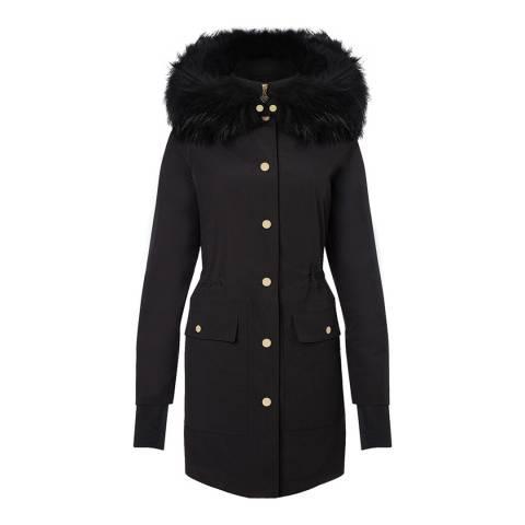 Tricouni Black Antarctica Wool Parka Coat
