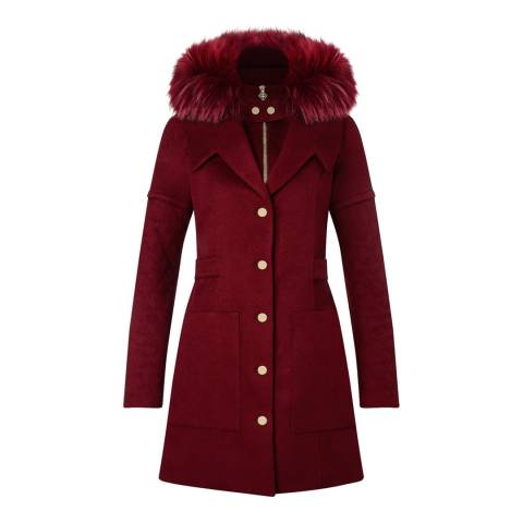 Tricouni Red Gstaad Cashmere Coat