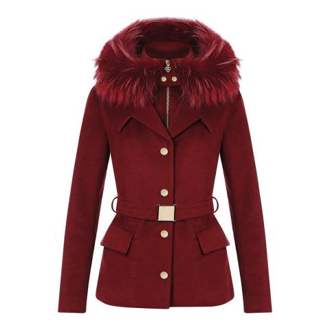 Tricouni Red Mallory Multi Layered Coat
