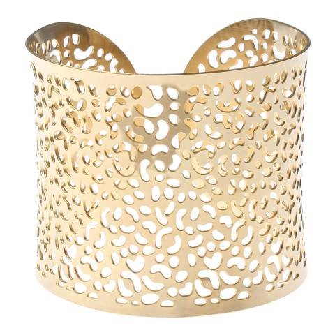 Chloe Collection by Liv Oliver Gold Cut Out Cuff Bracelet
