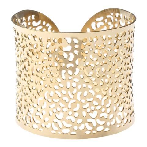 Chloe by Liv Oliver Gold Cut Out Cuff Bracelet