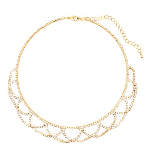 Liv Oliver Gold Crystal Necklace