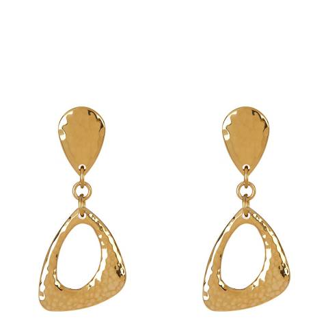 Chloe Collection by Liv Oliver Gold Geometric Drop Earrings