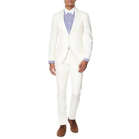 Hackett London White Cotton Suit