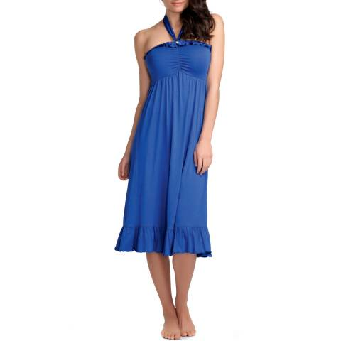 Freya Blue Paradise Jersey Halterneck Dress