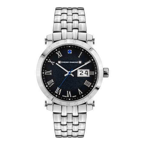 Chrono Diamond Men's Silver Stainless Steel Nestorius Watch