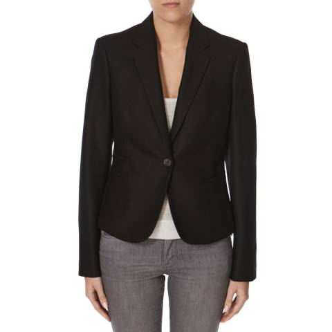 Joseph Black Flannel Stretch Jacket