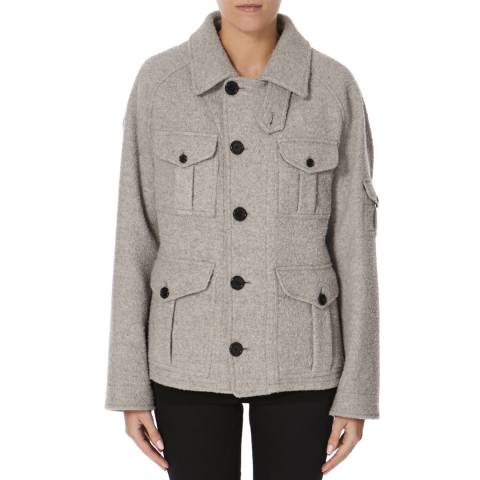 Joseph Grey Wool Blend Callaghan Teddy Coat