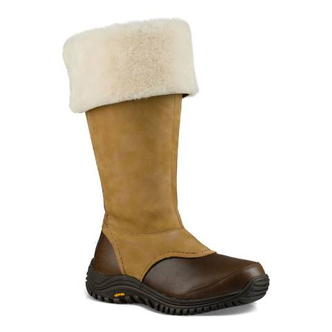 UGG Brown Waterproof Leather Miko Boots