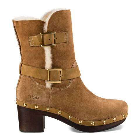 UGG Chestnut Suede Bea Ankle Boots