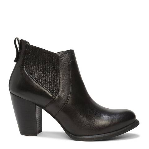 UGG Black Leather Cobie II Ankle Boots