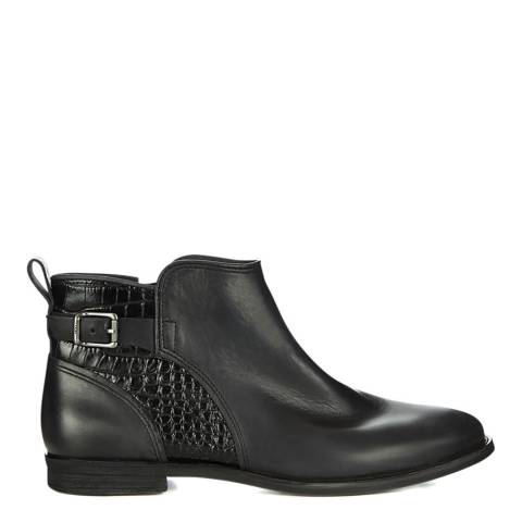 UGG Black Leather Demi Croc Boots
