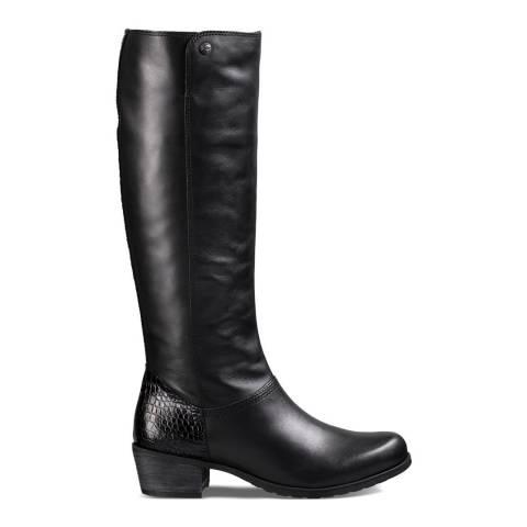 UGG Black Leathe Barton Croco Knee High Boots