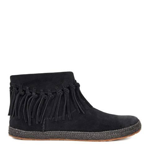 UGG Womens Black Suede Shenendoah Ankle Boots